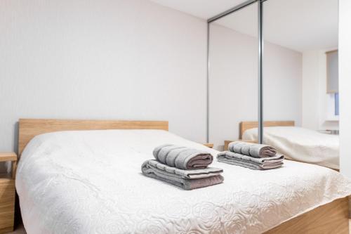 Voodi või voodid majutusasutuse Marja Apartment toas