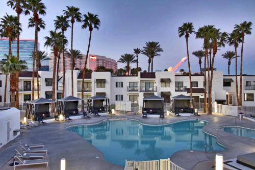 The swimming pool at or near Serene Vegas Boutique Hotel