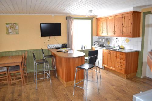 Ett kök eller pentry på Berggårdens Gästgiveri