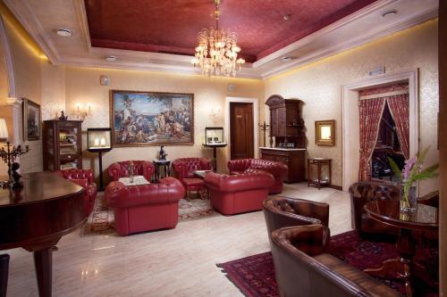 The lobby or reception area at Hotel Otrada