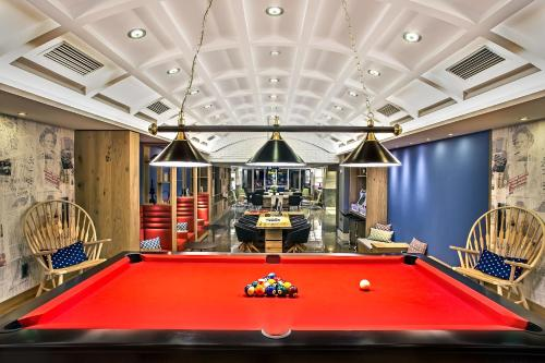 A billiards table at Airotel Alexandros