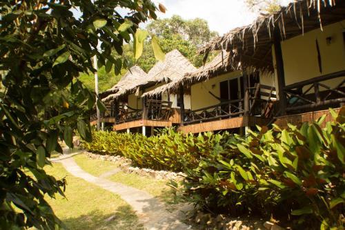 Das Gebäude in dem sich das Resort befindet