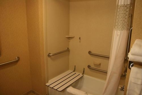 A bathroom at Hampton Inn & Suites East Hartford