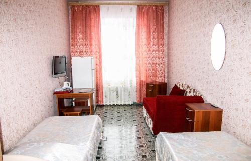 Телевизор и/или развлекательный центр в Hostel Prometey