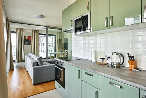 Kuchyň nebo kuchyňský kout v ubytování 006 Angel Apartment