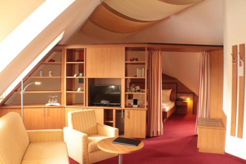Гостиная зона в Hotel Blauer Wolf