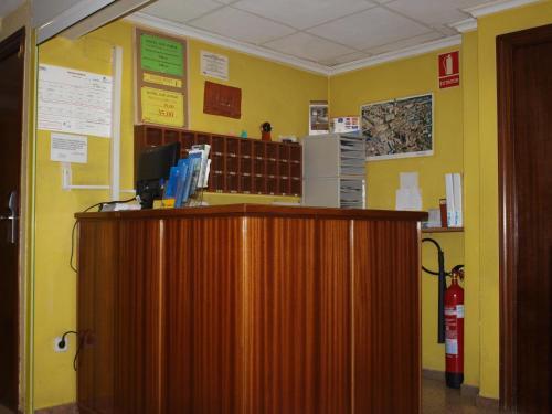 The lobby or reception area at Hostal San Jorge