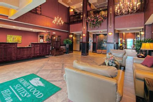 The lobby or reception area at Homewood Suites by Hilton Bloomington