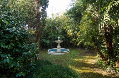 A garden outside Hotel Novecento