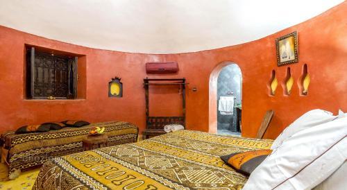 Cama o camas de una habitación en Chez Le Pacha
