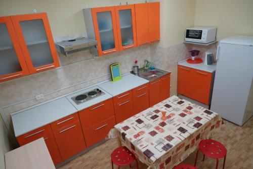Кухня или мини-кухня в Хостел Рус - Волгоградка