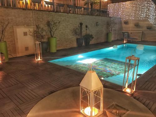Бассейн в Hotel Villa del Bosco или поблизости