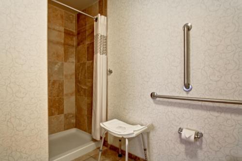 A bathroom at Hampton Inn & Suites Red Deer