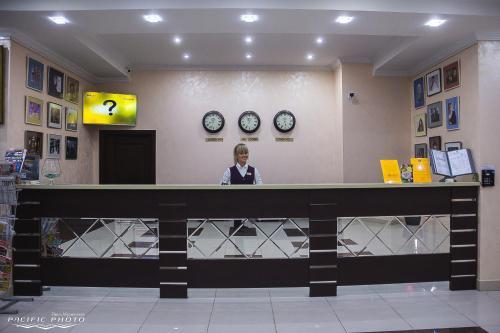 Лобби или стойка регистрации в Гостиница Брянск