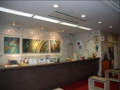 The lobby or reception area at Albert Hotel Akita
