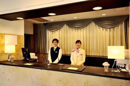 The lobby or reception area at Grand Park Hotel Panex Kimitsu