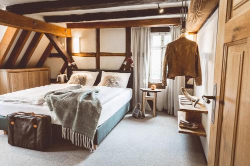 Ein Etagenbett oder Etagenbetten in einem Zimmer der Unterkunft Landhotel Lammershof