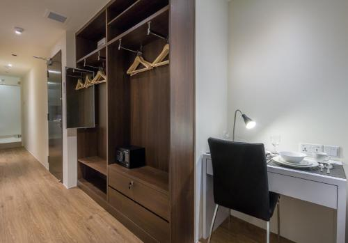 A television and/or entertainment center at Heritage Collection on Clarke Quay (SG Clean)