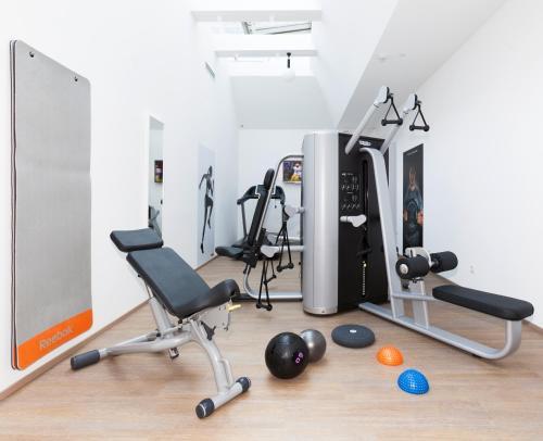Das Fitnesscenter und/oder die Fitnesseinrichtungen in der Unterkunft Hotel Zach