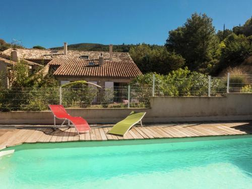 The swimming pool at or near Stylish Villa in Fraisse-des-Corbieres with Swimming Pool