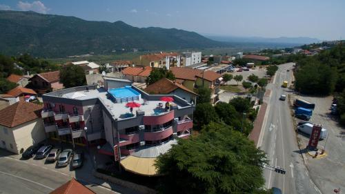 A bird's-eye view of Hotel Prvan