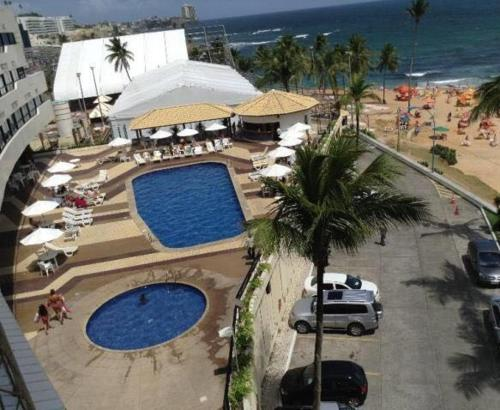 A view of the pool at Flat em Ondina (ap.404) or nearby