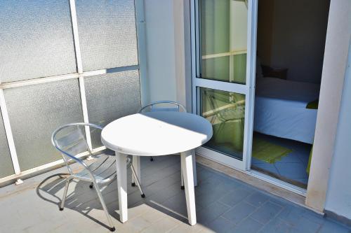 Uma varanda ou terraço em Residencial A Doca