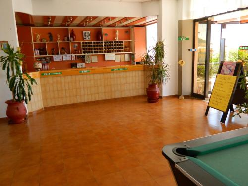 The lobby or reception area at Telhinis Hotel