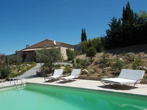 The swimming pool at or near Spacious Holiday Home with Swimming Pool in Montaulieu