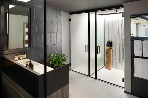 A bathroom at 1 Hotel Brooklyn Bridge
