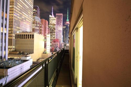 A balcony or terrace at Radio City Apartments
