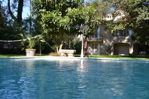 Het zwembad bij of vlak bij Mas Les Filaos (B&B&Bike)