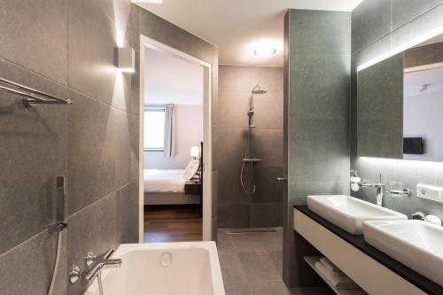 A bathroom at Mezger Lodges