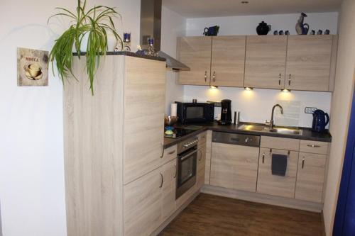 Küche/Küchenzeile in der Unterkunft Fewo Bemmann