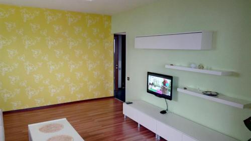 Телевизор и/или развлекательный центр в Apartment on Yasnogorskaya 6