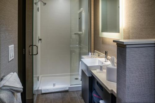 A bathroom at SpringHill Suites by Marriott Springdale Zion National Park