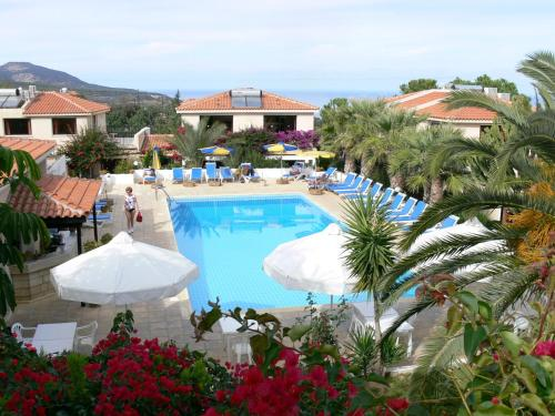 A view of the pool at Tavros Hotel Apartments or nearby