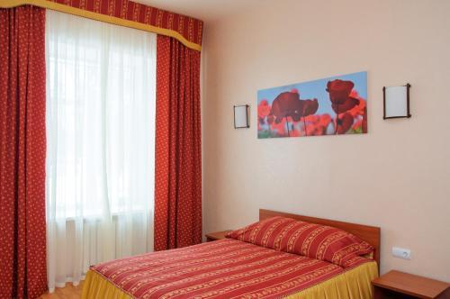Кровать или кровати в номере Гостиница Киль