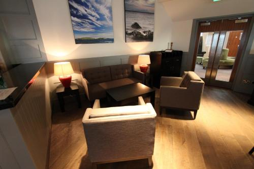 A seating area at The Lerwick Hotel
