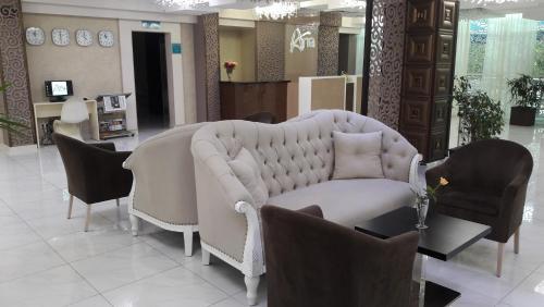 Svetainės erdvė apgyvendinimo įstaigoje Aria Hotel Chisinau
