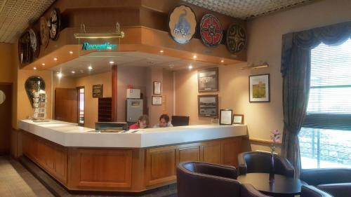 The lobby or reception area at The Shetland Hotel