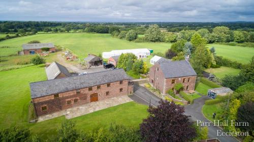 Parr Hall Farmの鳥瞰図