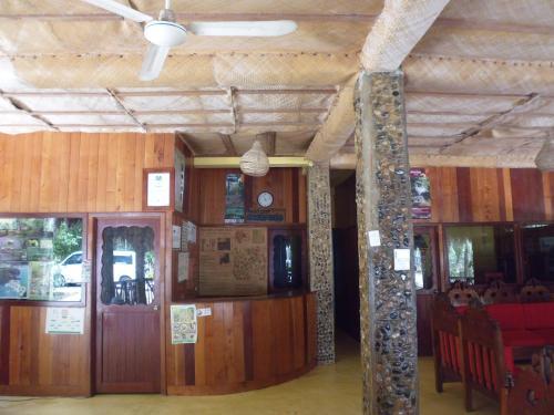 The lobby or reception area at Hotel Nueva Alianza