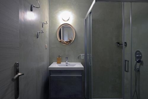 A bathroom at Locandiera