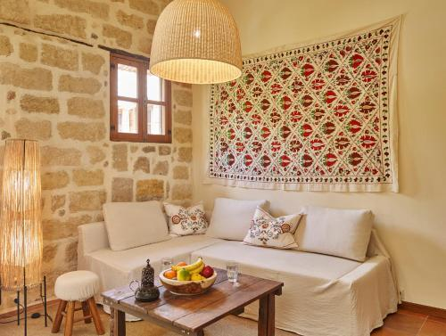 A seating area at Helios Garden Boutique Apartments