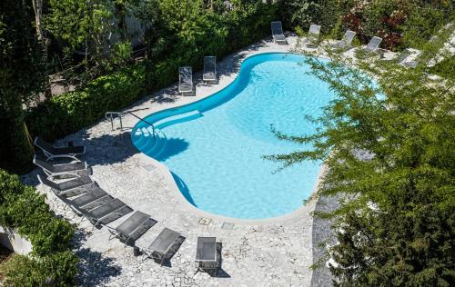 Вид на бассейн в Hotel Buona fortuna или окрестностях