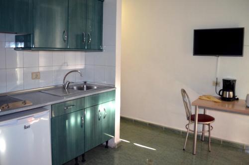 Een keuken of kitchenette bij Apartamentos Green Park