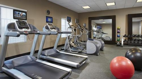 The fitness center and/or fitness facilities at Hilton Garden Inn Austin Airport