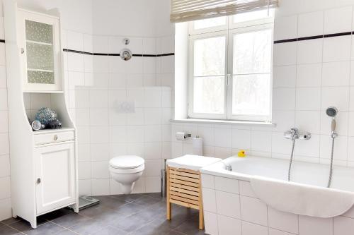 A bathroom at Schloss Plaue