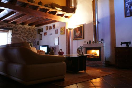 Zona de estar de Casa Rural Alto Santiago